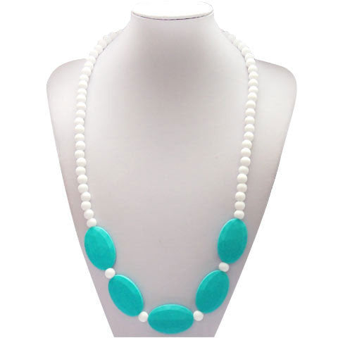 Tabitha Necklace Turquoise & White