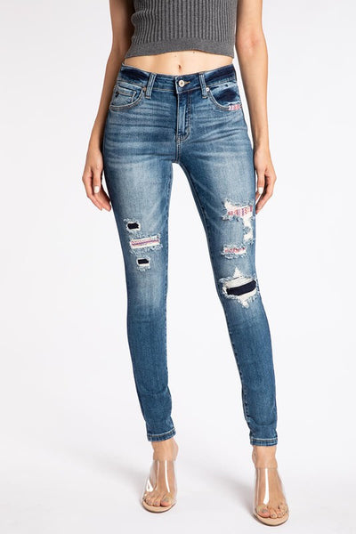 Taylor Patched Skinny Jean~ KanCan