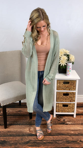No Doubts Crochet Cardigan
