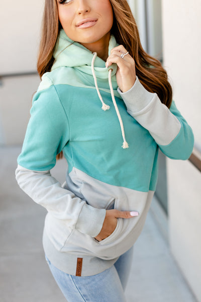 SingleHood Sweatshirt- Seaglass