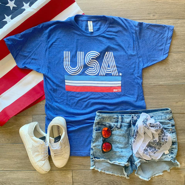 USA Stripes Tee ADULT