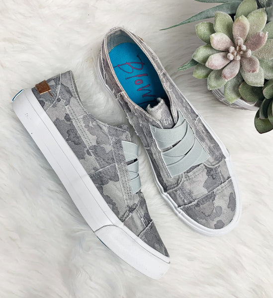 Marley Sneaker- Gray Splatter Camo~ Blowfish