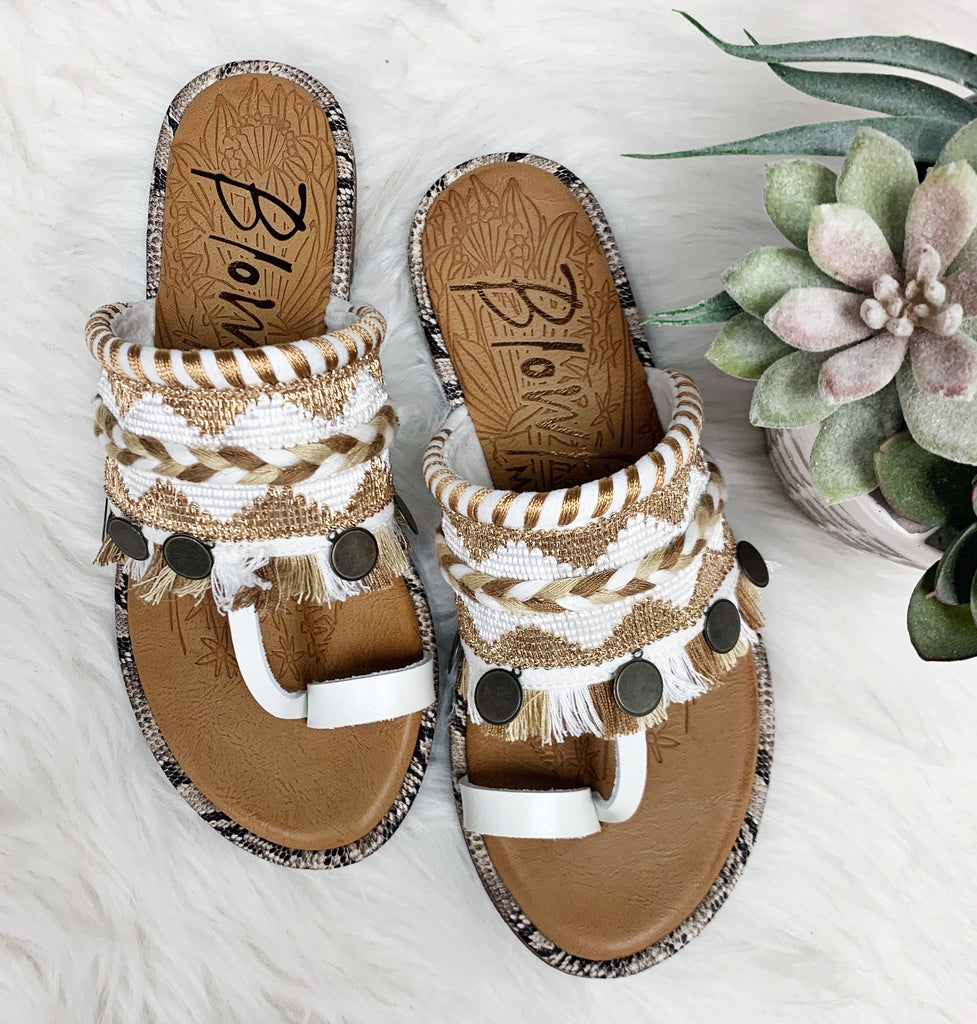 Raelynn Sandals- Pearl White~ Blowfish
