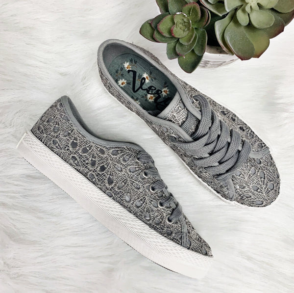 Flirty Sneaker- Grey~ Very G