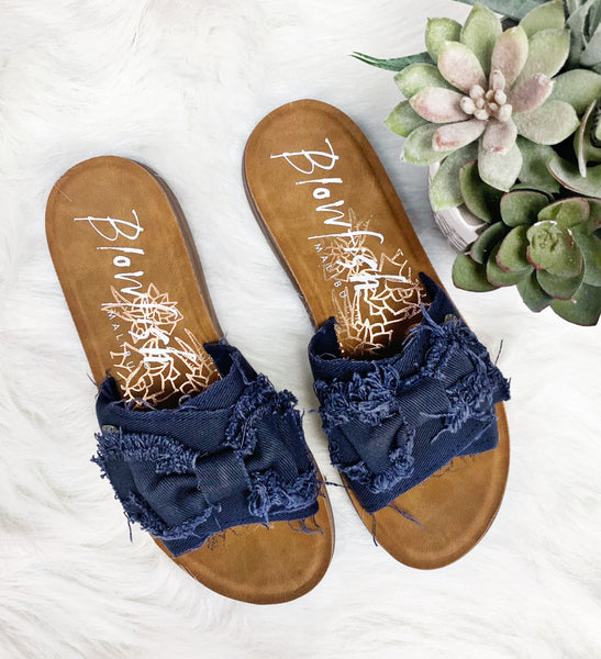 Saturn Sandal- Pure Navy~ Blowfish