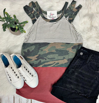 Can't Hide This Camo Tank
