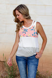 Know Your Thoughts Floral Tank