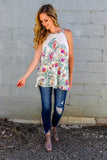 Set The Pace Floral Tank (Multiple Colors)