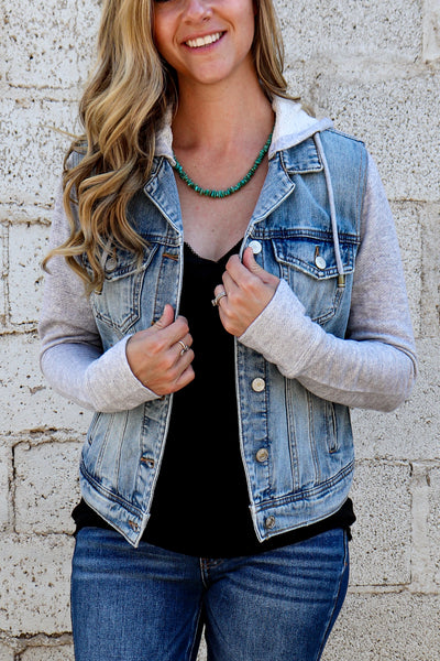 Stirling Denim Jacket~ Silver Jeans