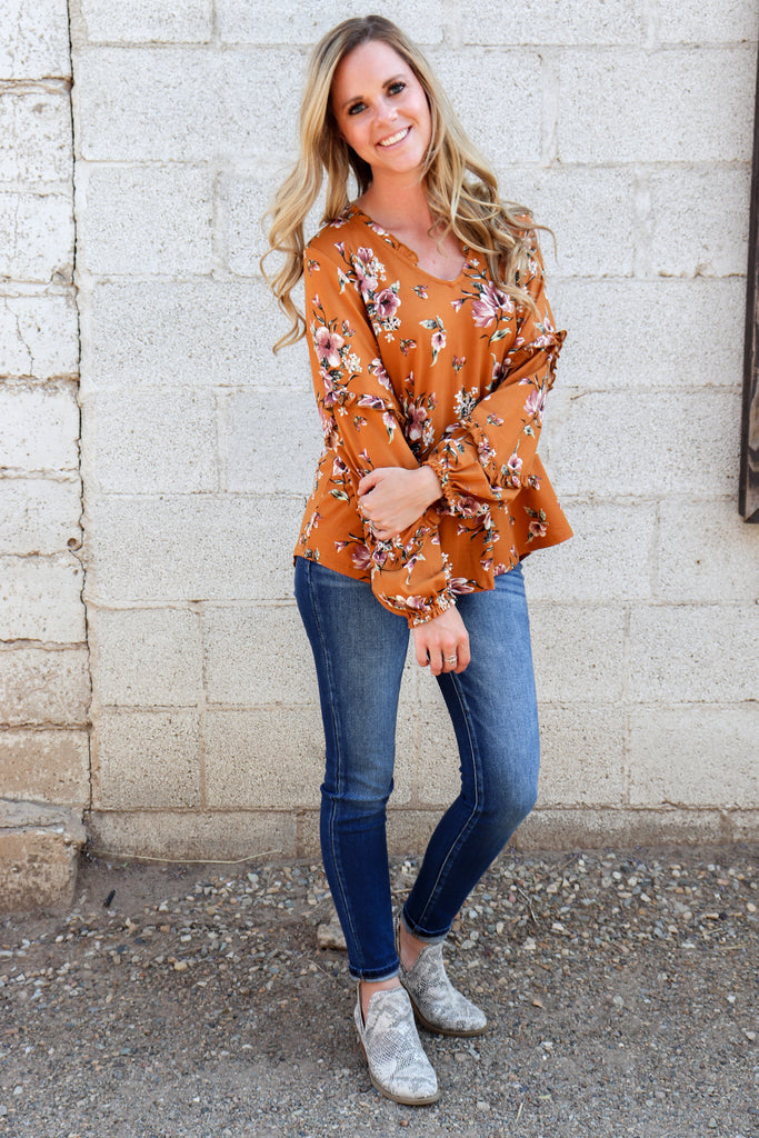 Take The Leap Floral Top