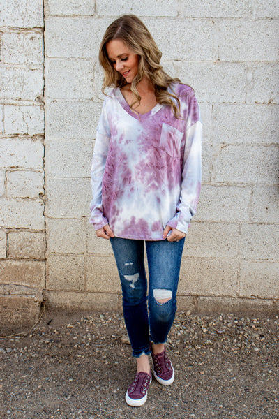 Just Dropping By Tie Dye Top