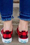 Play Sneaker-Red Buffalo Check~ Blowfish