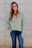 Could Have Been You Waffle Knit Top (Multiple Colors)