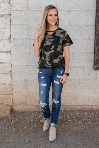 A New Discovery Camo Top