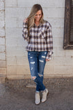 Just In Time Plaid Top