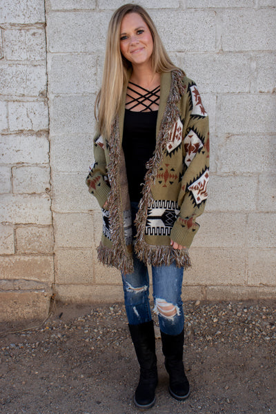 Really Ready Aztec Cardigan