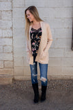 Run To You Cardigan- Oatmeal