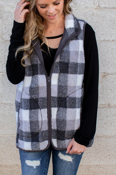 Meet Me There Plaid Vest