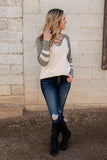 Feel The Need Varsity Top- Vintage Sage