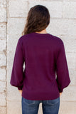 Doing The Most Sweater- Plum