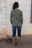 Know You Well Top- Vintage Olive