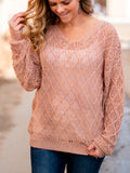 Go The Distance Sweater- Rose