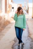 Go The Distance Sweater- Sage Green