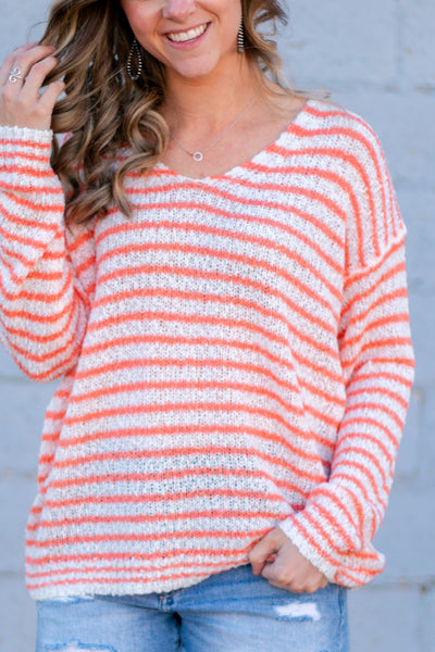 Something To Love Sweater- Peach