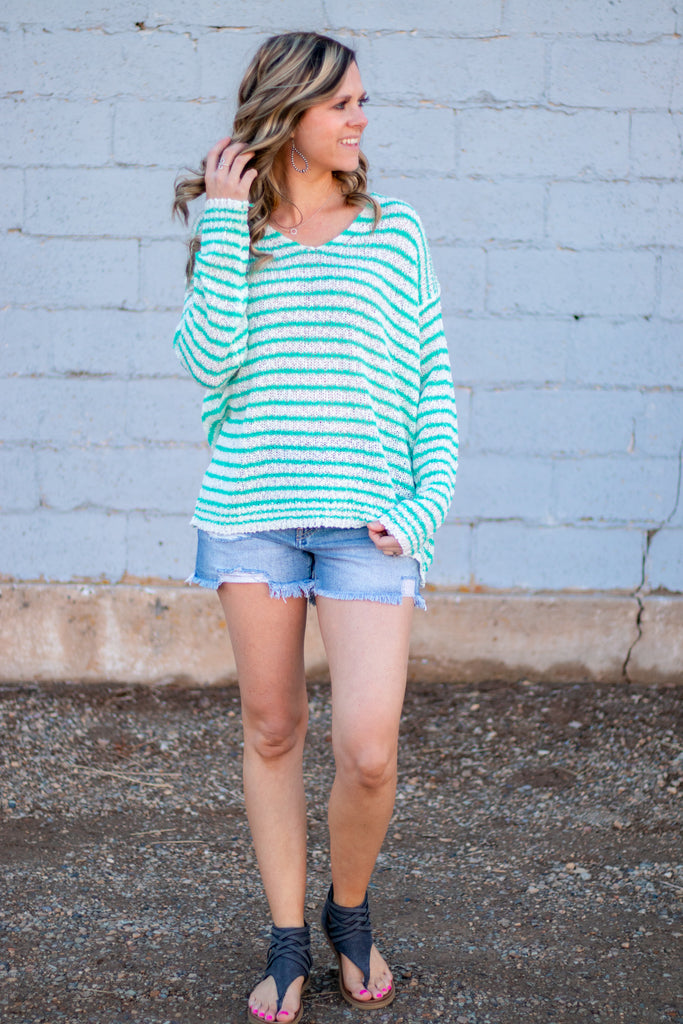 Something To Love Sweater- Mint