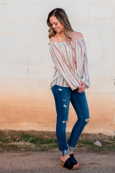 Fit For You Off The Shoulder Top