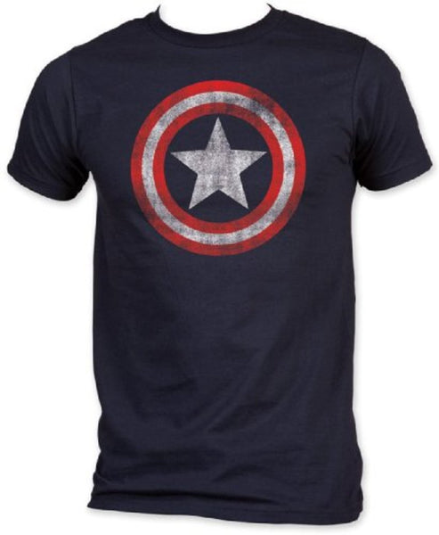 "Captain America ""Distressed Shield"" Shirt"