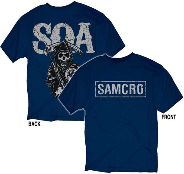 "Sons of Anarchy ""SAMCRO Cracked Logo"" Shirt"