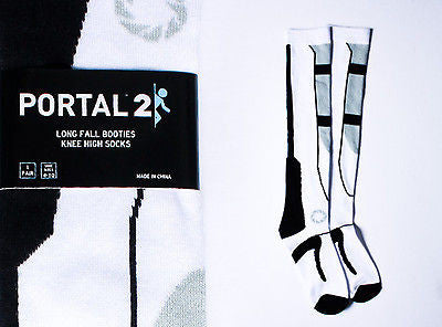 "Portal 2 ""Long Fall"" Socks"