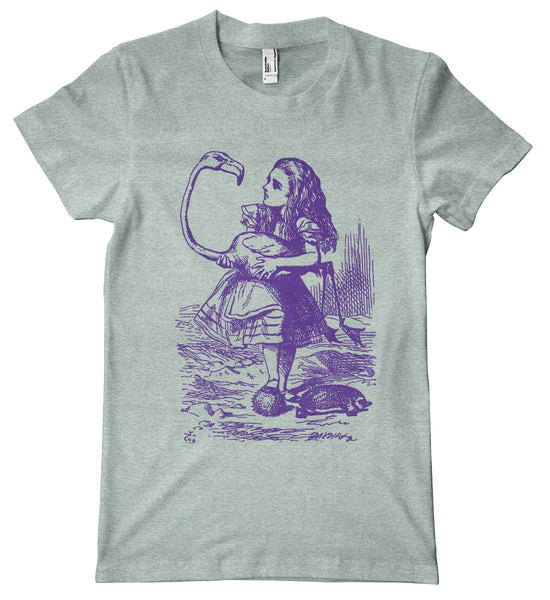 Alice in Wonderland Croquet Premium T-Shirt