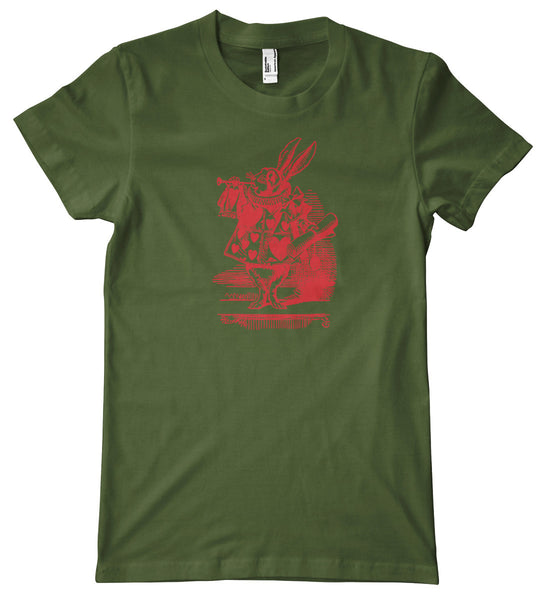 Alice in Wonderland Fancy Rabbit Premium T-Shirt