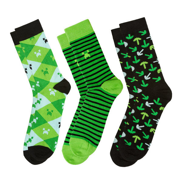 Minecraft Socks 3 Pack