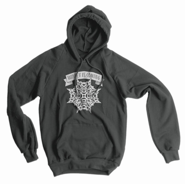 Winter is Coming Snowflake American Apparel Hoodie