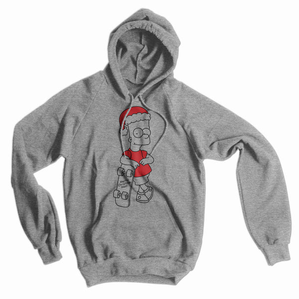 Bart Simpson Merry Christmas, Man American Apparel Hoodie