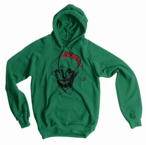 Bill Murray Santa Hat American Apparel Hoodie