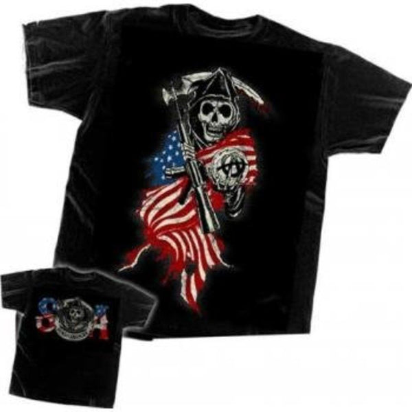 "Sons of Anarchy ""Grim Reaper Flag"" Shirt"