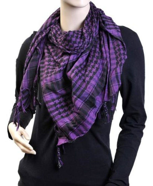Plaid Houndstooth Keffiyeh Scarf