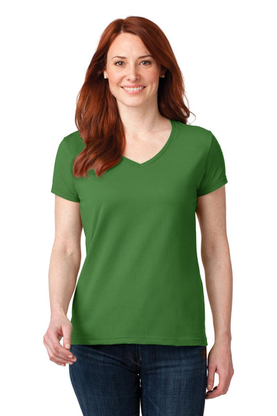 Anvil® Ladies 100% Ring Spun Cotton V-Neck T-Shirt. 88VL