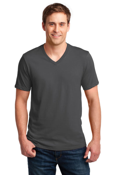 Anvil® 100% Ring Spun Cotton V-Neck T-Shirt. 982