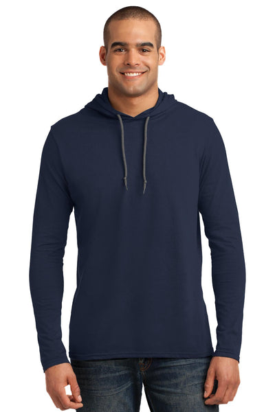 Anvil® 100% Ring Spun Cotton Long Sleeve Hooded T-Shirt. 987
