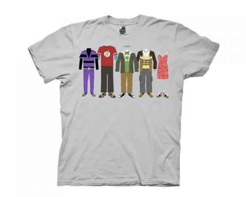 "The Big Bang Theory ""Cartoon Wardrobe Line Up"" Shirt"