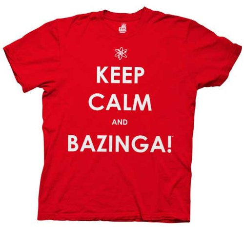 "The Big Bang Theory ""Keep Calm and Bazinga"" Shirt"