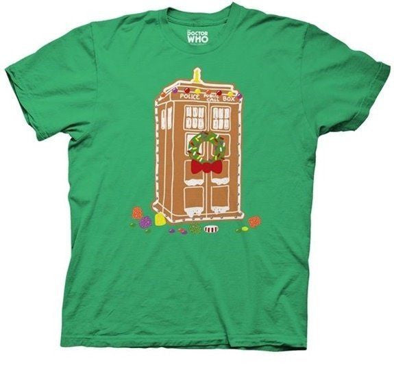 "Doctor Who ""Gingerbread House Tardis"" Shirt"