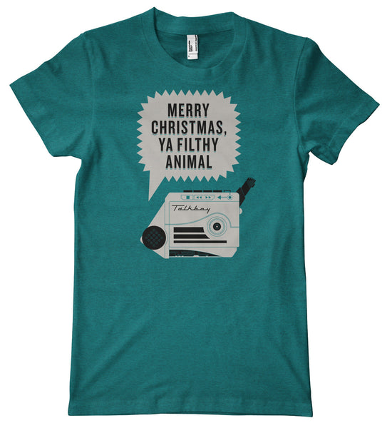 Merry Christmas, Ya Filthy Animal Talkboy American Apparel Tri-Blend T-Shirt