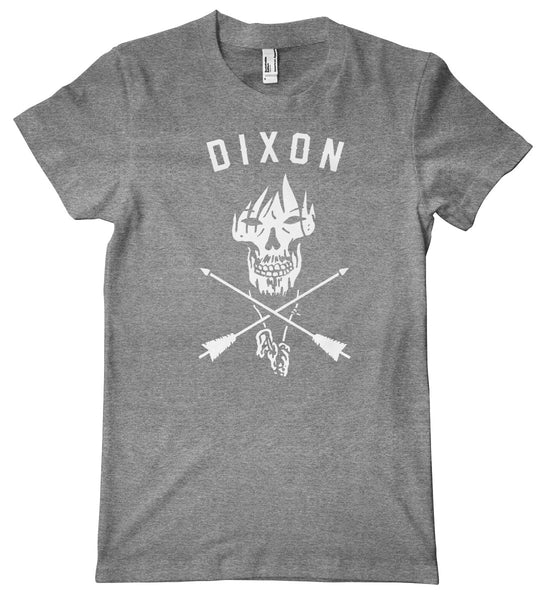 Dixon Skull Arrows American Apparel Tri-Blend T-Shirt