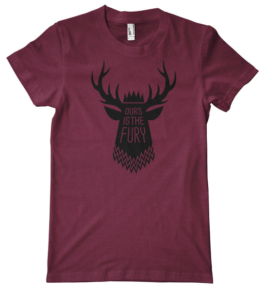 Baratheon Motto: Ours Is the Fury American Apparel Tri-Blend T-Shirt